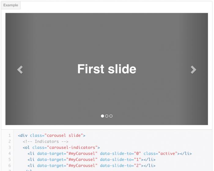 Bootstrap - Bootstrap slider div ...