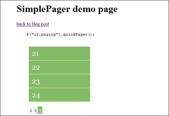 SimplePager – jQuery paging plugin