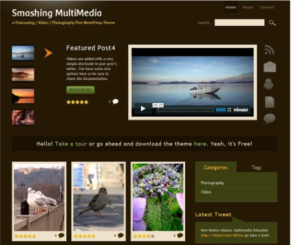 smashing multimedia free wordpress video theme