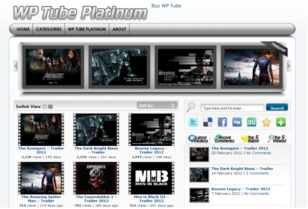 wptube free wordpress video theme